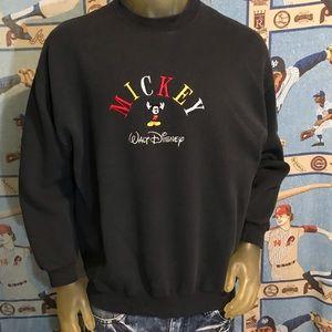 Vintage Shirts - Mickey Mouse Walt Disney Embroidered Sweatshirt L